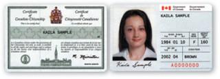 Canada Citizenship Card