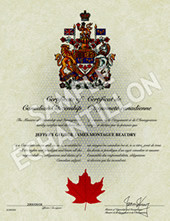 Canadian Citizenship certificate