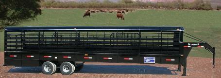 Remorque pour le bétail tracté par de puissant 4X4