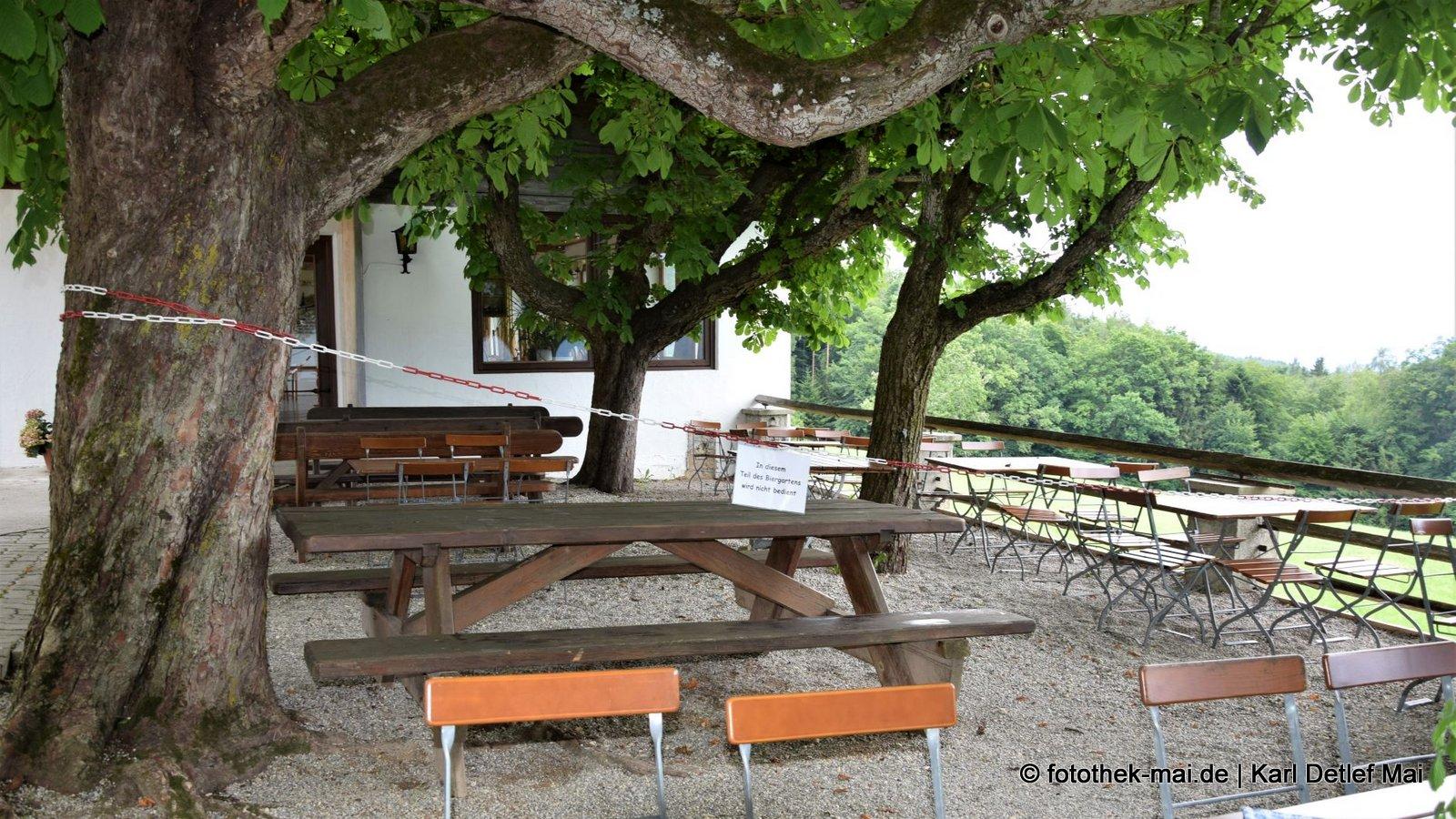 Damals schon erschrocken, Plätze mit Aussicht abgesperrt // Bayrische Ausflugsgaststätte im Berchtesgadener Land