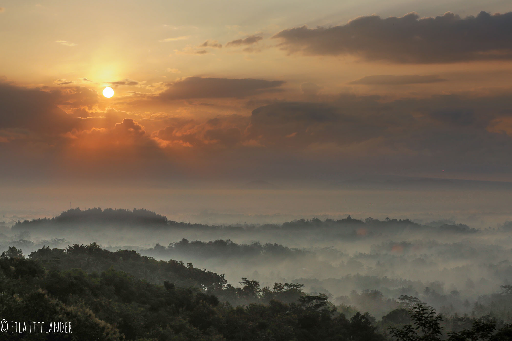 Sunrise at Punthuk Setumbu Hill Magelang