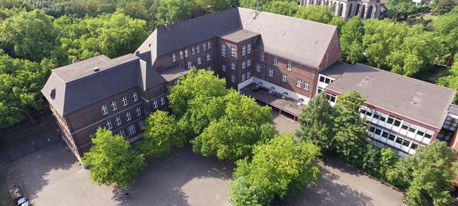 Leibniz Gesamtschule Duisburg Luftaufnahme