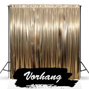 Fotobox Vorhang Gold