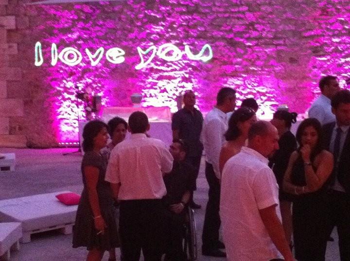ecriture avec le laser pour un mariage