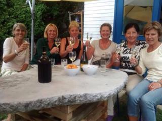 Francoise Koch, Karoline Taurer, Barbara Heiss, Christine Bugelnig, Mannschaftsführerin Klara Led & Christa Mirnig