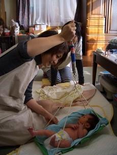 赤ちゃん訪問の風景