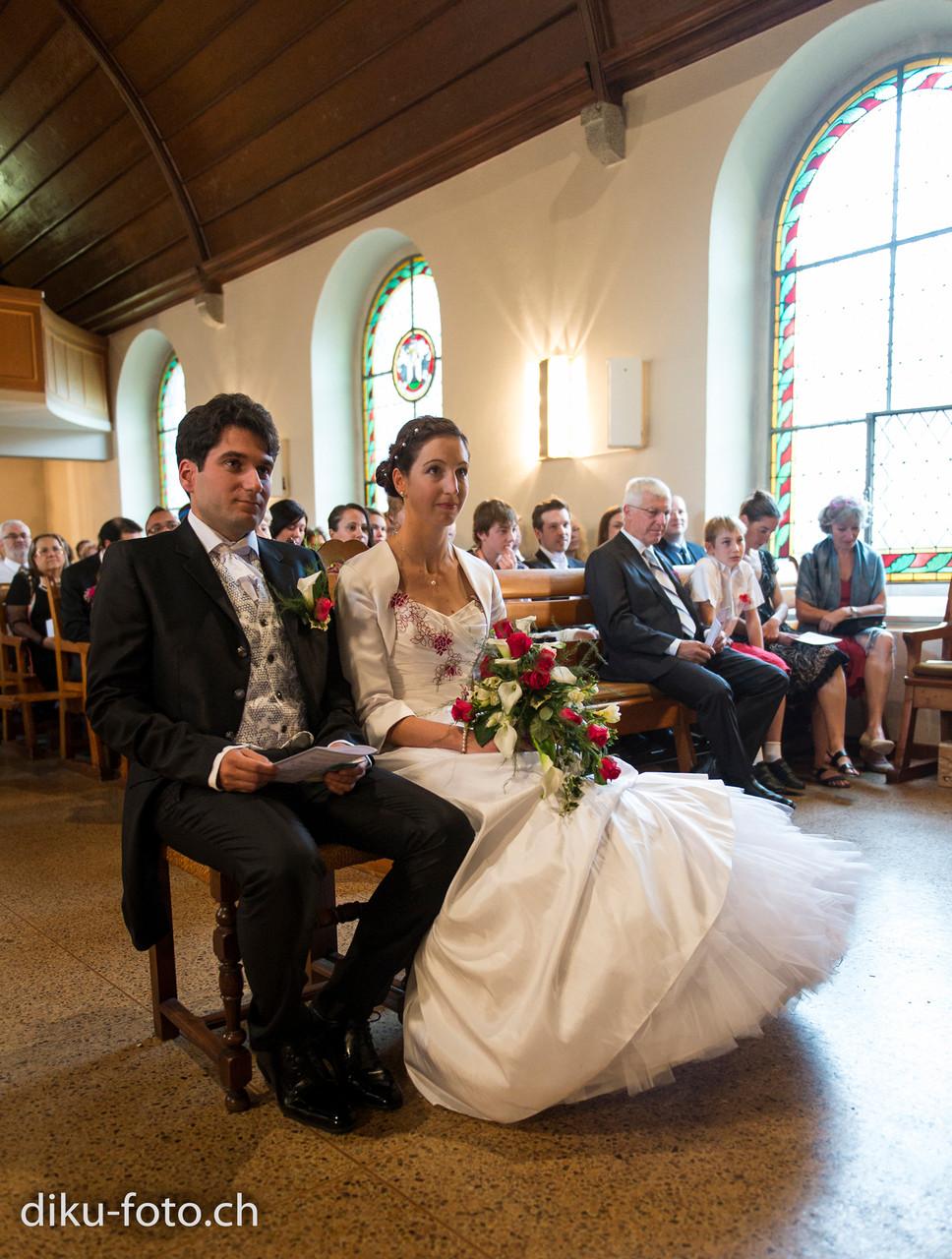 Brautleute in der Kirche