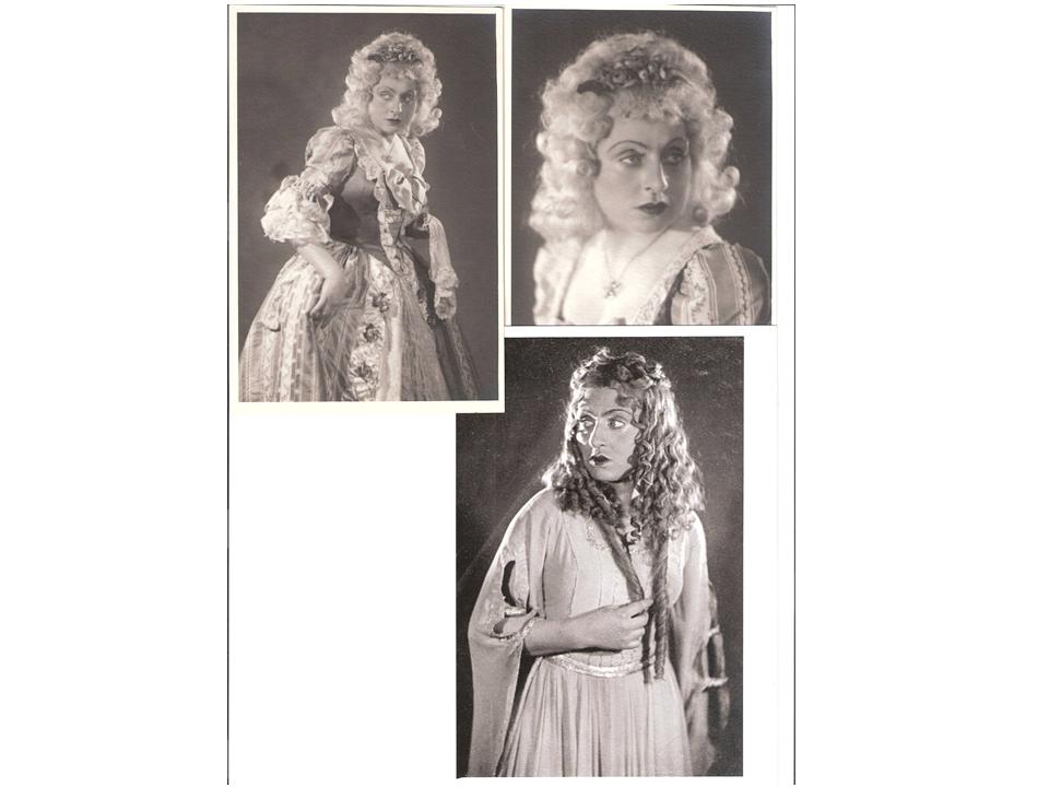 Вверху: Дама, «Соломон Маймон», внизу: Эмилия, «Испанцы», 1940