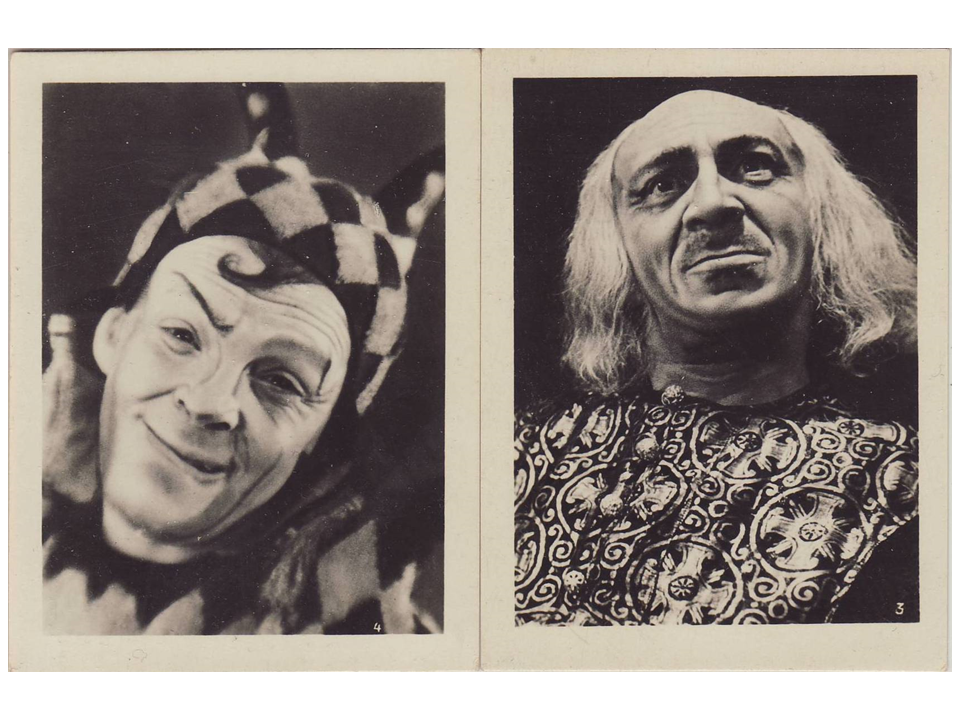 Zuskin as Fool (left) and Mikhoels as King Lear, King Lear, 1935