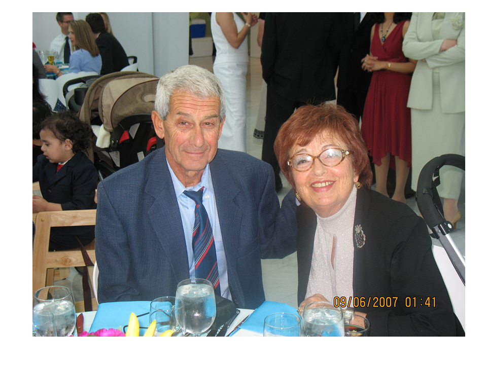 With husband Yuri Perelman, 2007
