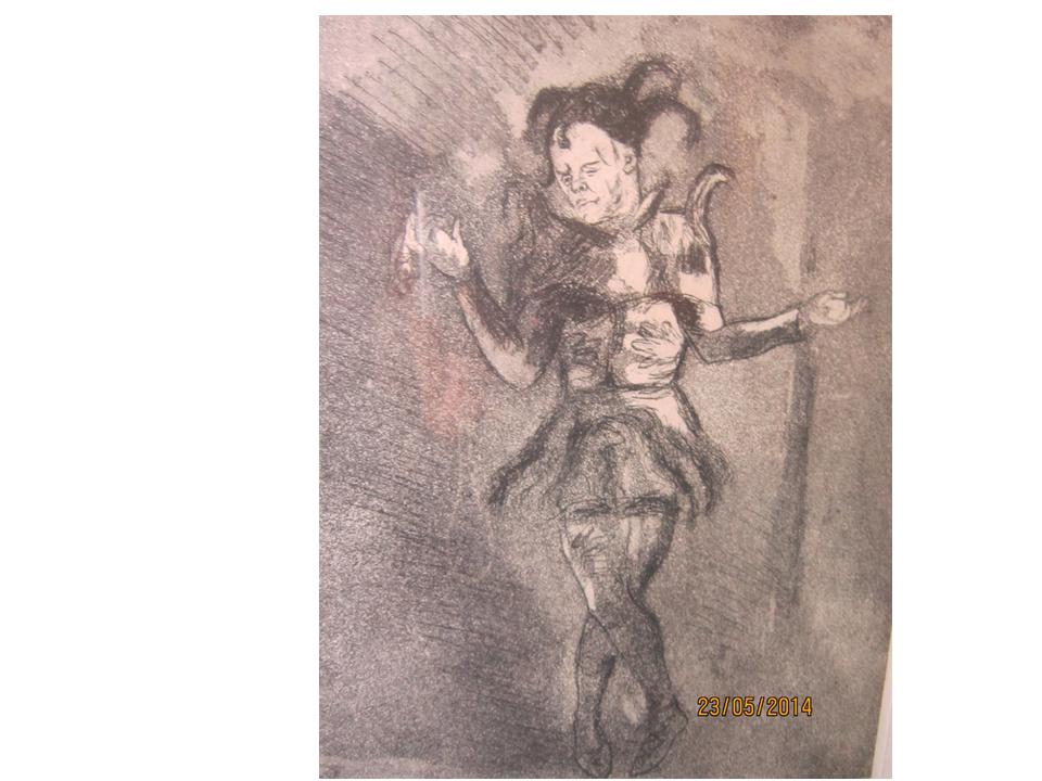 Шут, «Король Лир», 1935, офорт художницы В.Тарасовой