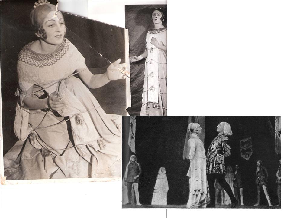 """קורדליה לבד ועם המלך ליר (מיכאלס), ב-""""מלך ליר"""", 1935"""