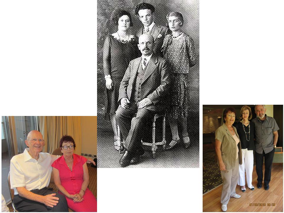 Вверху в центре: сидит – мой дедушка Лейб Зускин; стоят, справа налево – мои будущие мать и отец, сестра отца Соня, Sonia, Paris, 1928. Внизу слева: сын Сони Джулиан Коллис и я, Tel-Aviv, 2015. Внизу справа: дочь Сони Вера, ее муж Макс Брозин и я, Тель-Ав