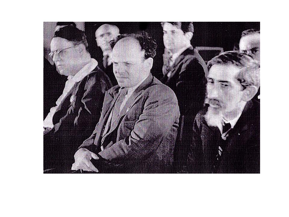 Зускин (в центре) на заседании Еврейского антифашистского комитета, 1947