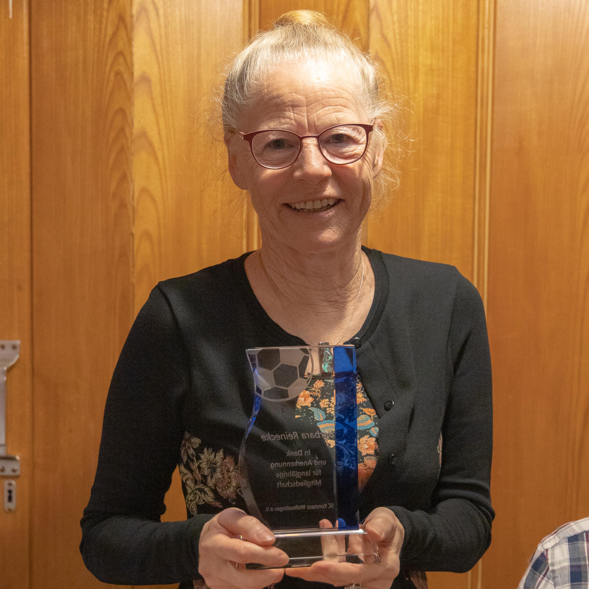 Bärbel Reinecke, 51 Jahre Mitgliedschaft