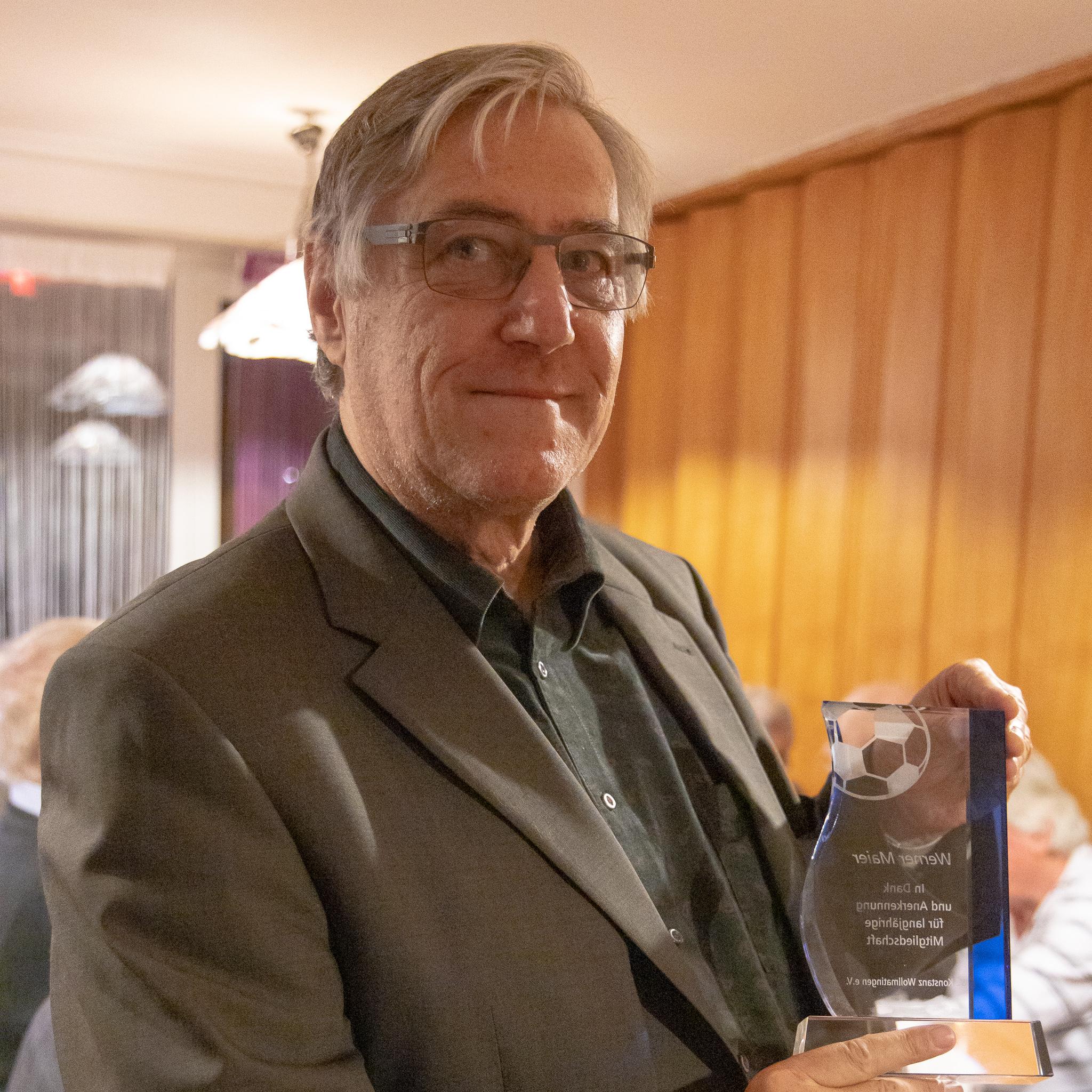 Werner Maier, 54 Jahre Mitgliedschaft
