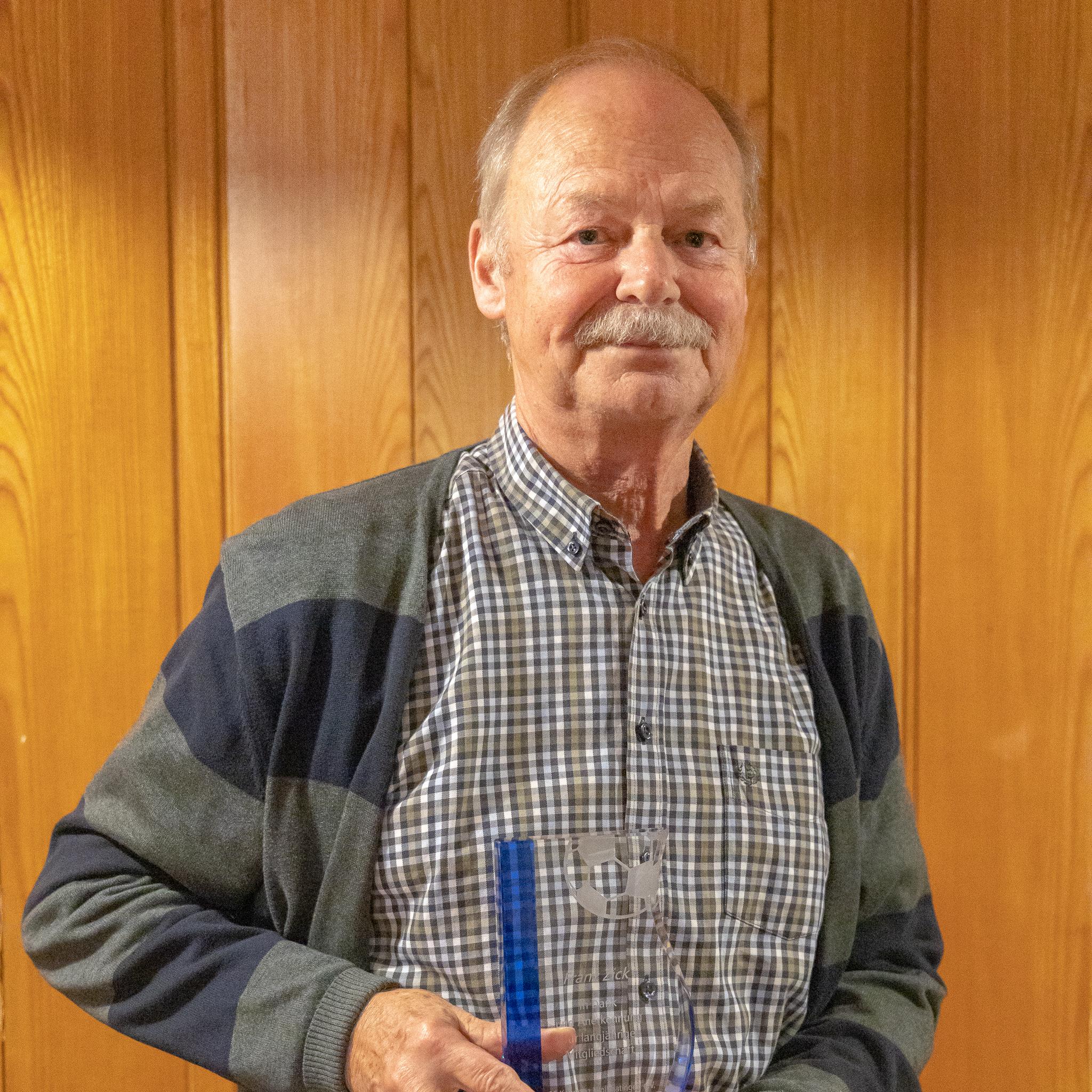 Franz Zick, 55 Jahre Mitgliedschaft