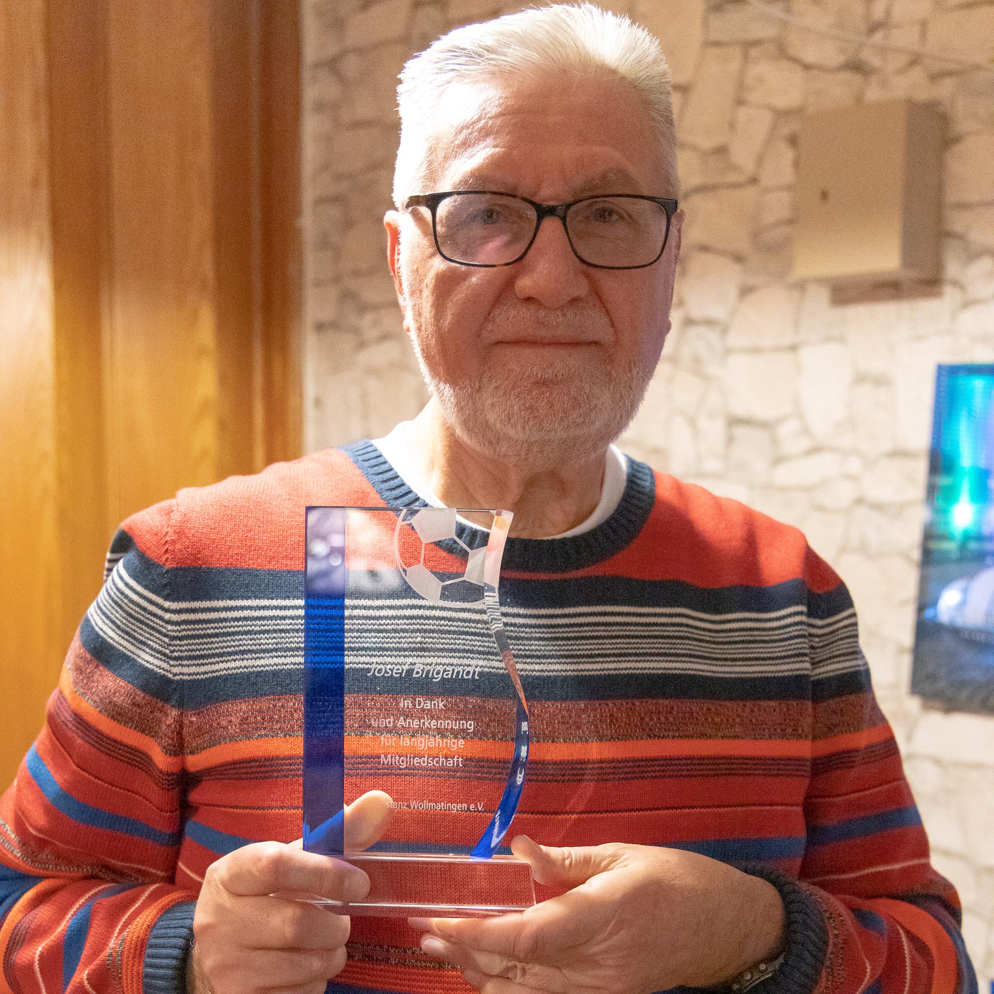Josef Brigandt, 53 Jahre Mitgliedschaft