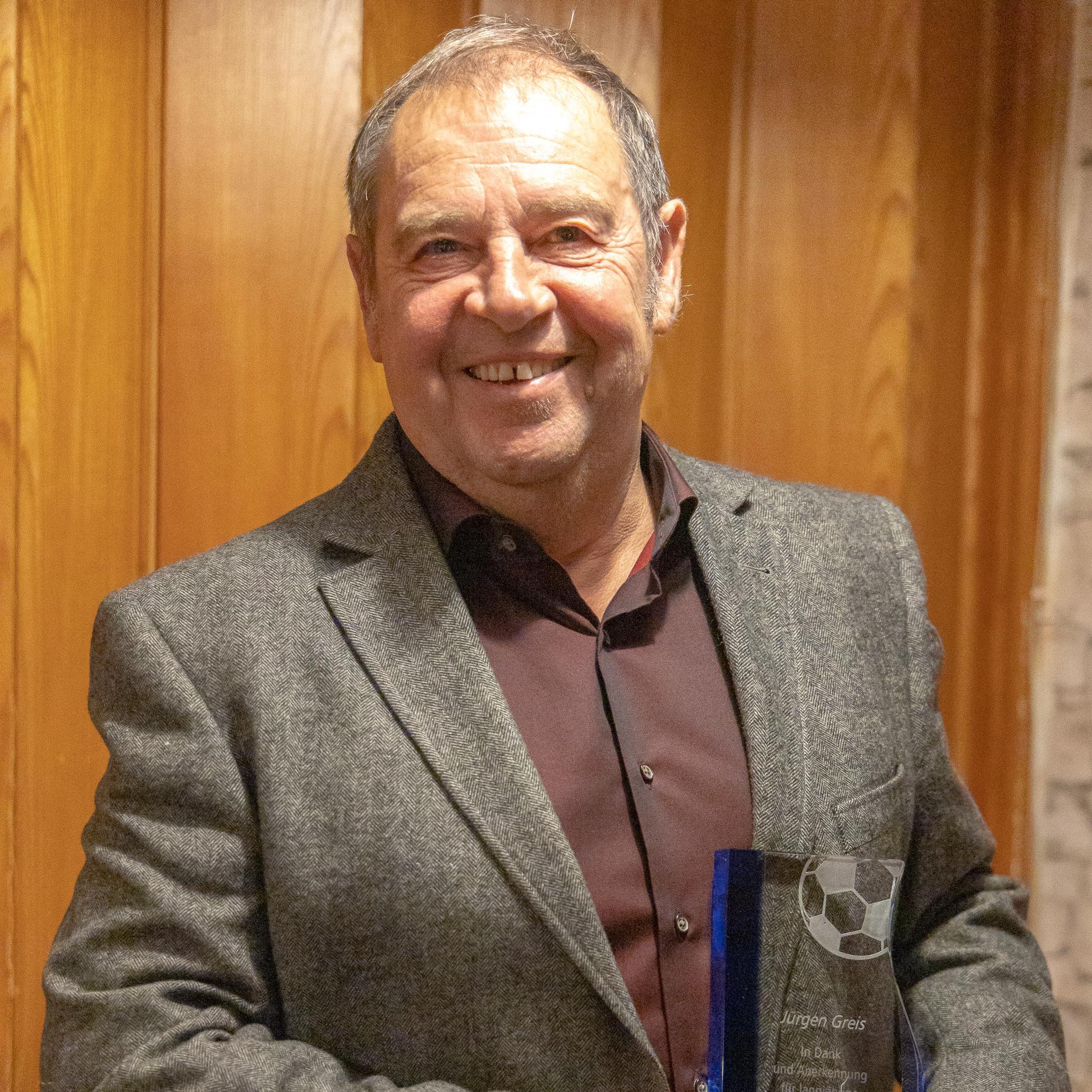 Jürgen Greis, 60 Jahre Mitgliedschaft