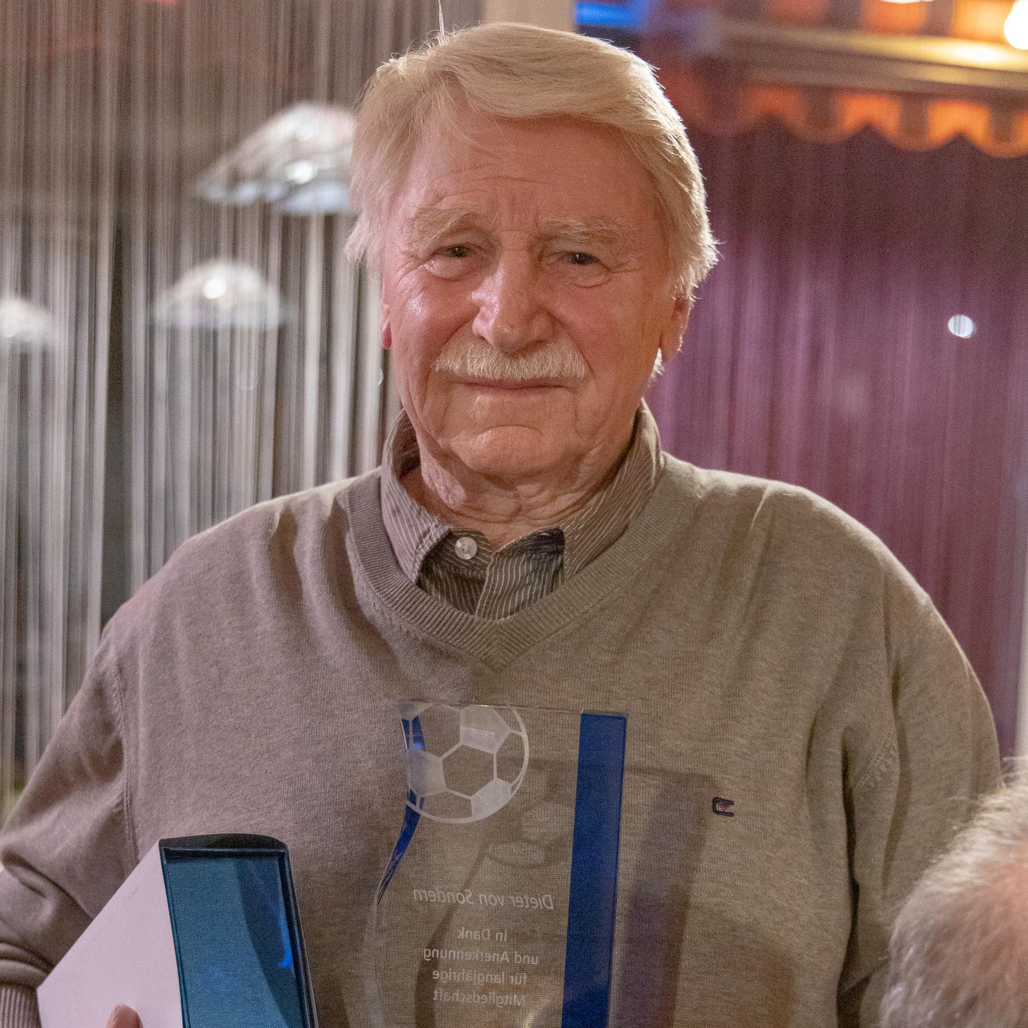 Dieter von Sonderrs, 62 Jahre Mitgliedschaft