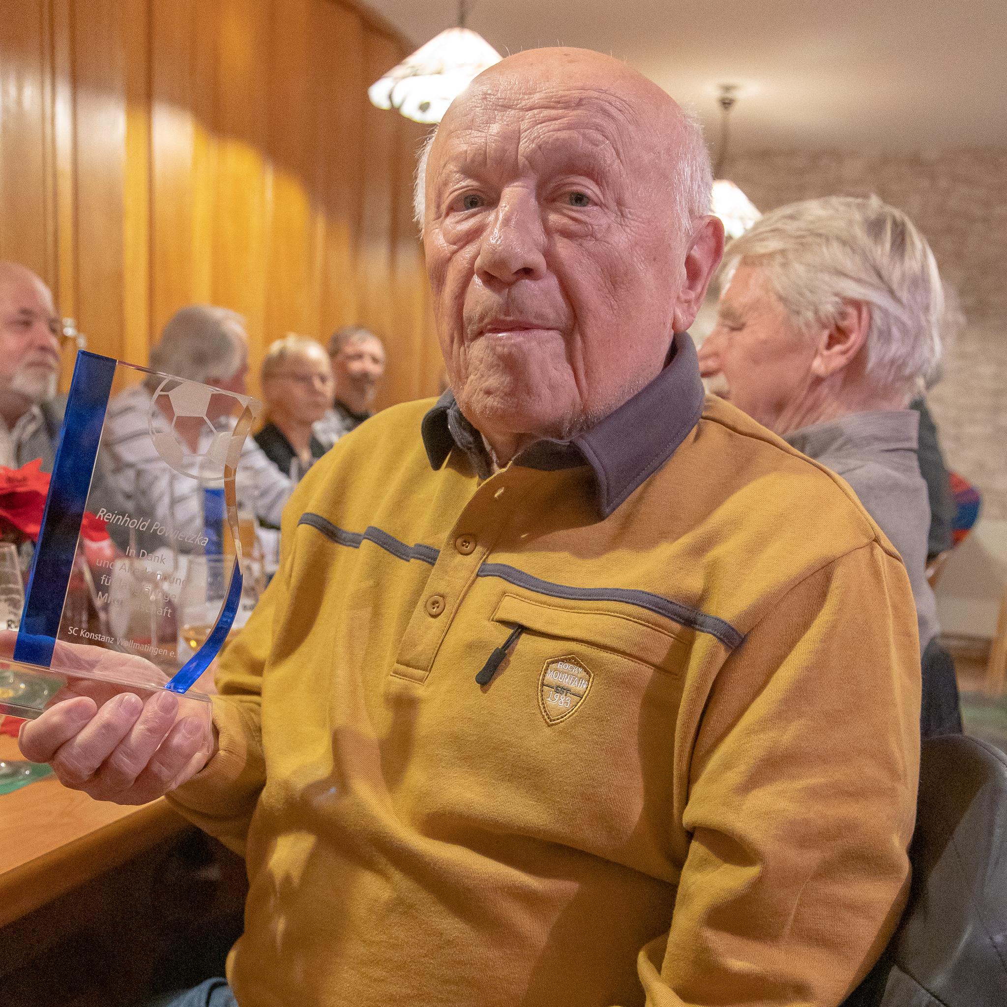 Reinhold Powietzka, 56 Jahre Mitgliedschaft