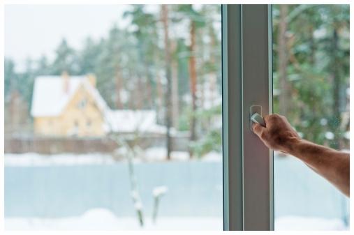 Frische Luft, Winter, Fenster
