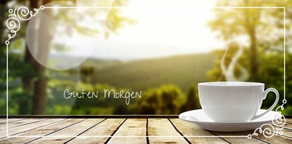 Guten Morgen, Kaffee, Frühstück, Sonne