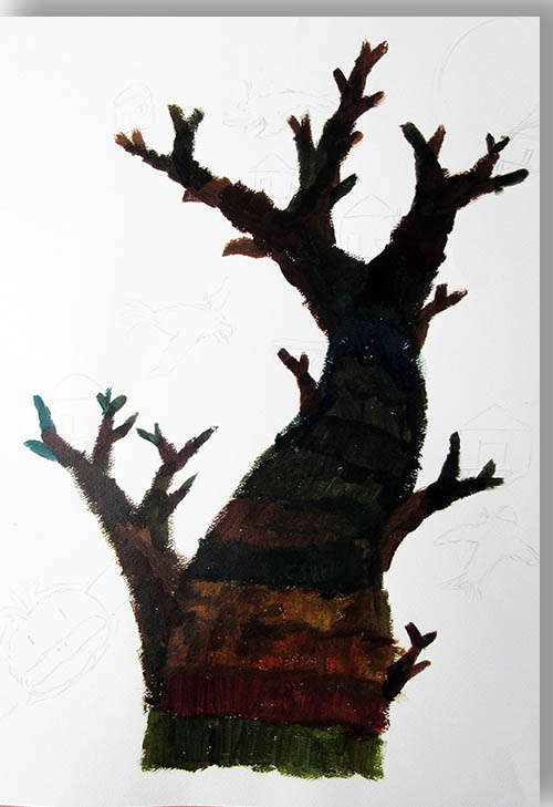 木の絵を描こう