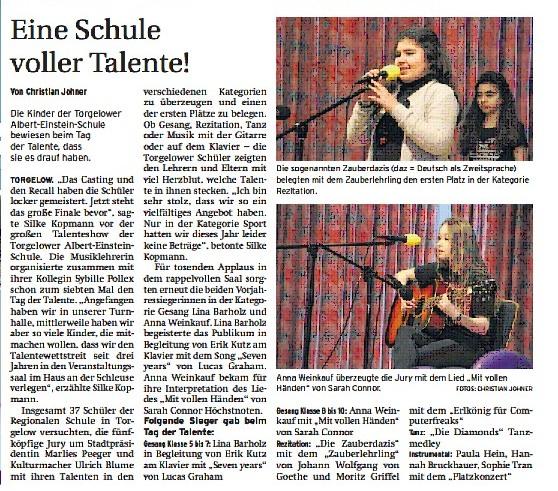 Quelle: Nordkurier - Haffzeitung vom 27.4.17