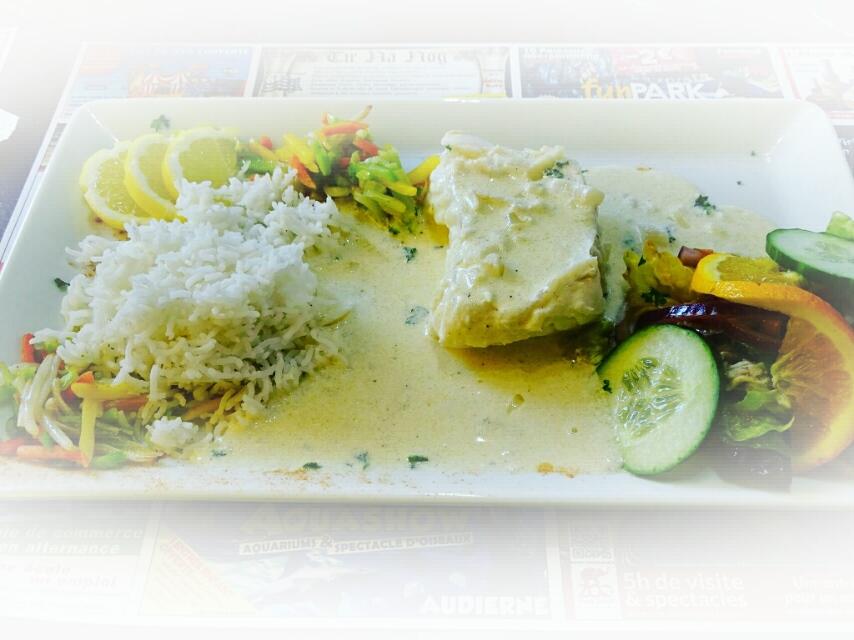 Poisson du jour sauce au beurre blanc