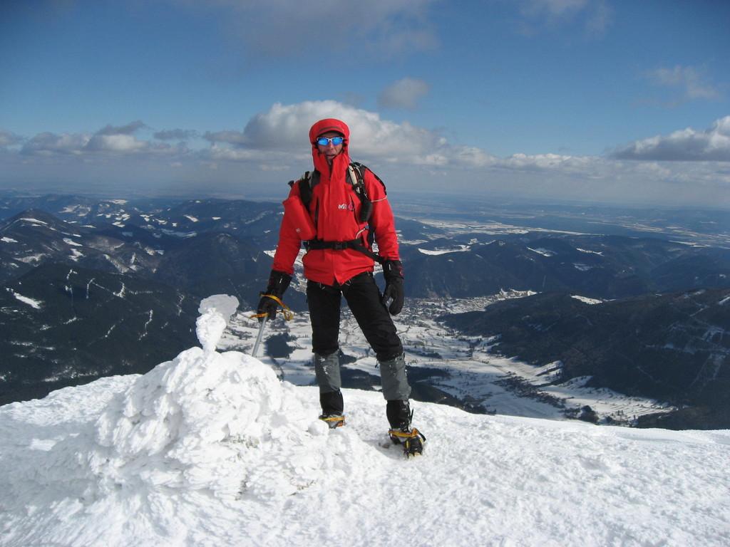 Nandlgrat am Schneeberg,der Ausstieg