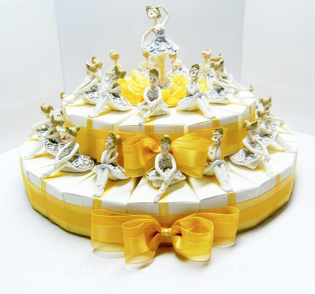torta ballerine 2 piani
