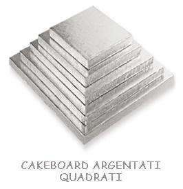 CAKEBOARD ARGENTATI QUADRATI
