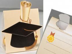 tocco laurea scatolina retro personalizzabile con il nominativo ecc.