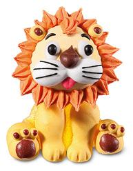 soggetto gelatina e zucchero leone 4x4,5cm