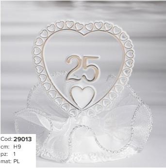 centro torta 25° anniversario € 7,50