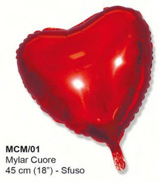 pallone mylar a forma di cuore gonfiabile a elio