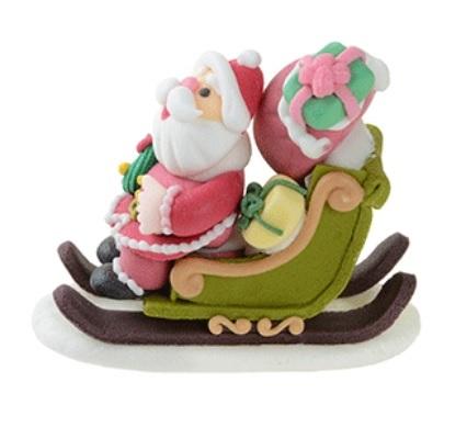 babbo Natale su slitta con regali Dimensione: L7/8xH6xP4 CM