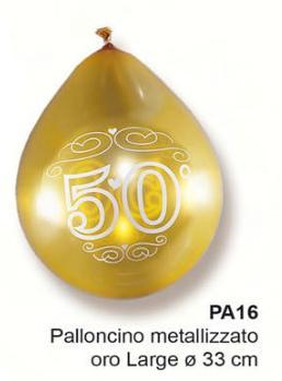 palloncini 50° anniversario  argento 16 pezzi € 4,50