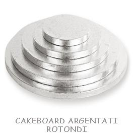 CAKEBOARD ARGENTATI ROTONDI
