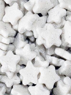 piccole stelline di zucchero bianche