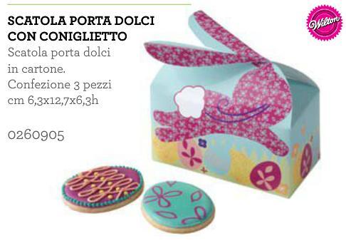 scatola per dolci coniglio