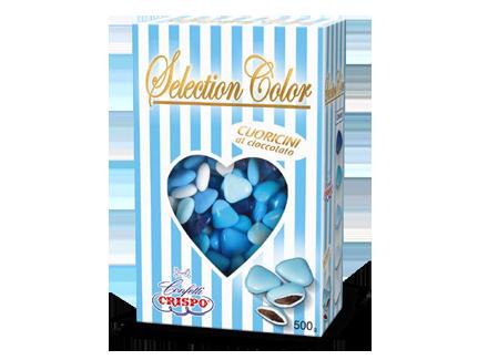 cuoricini mignon selection color azzurri al cioccolato 500g € 6,50