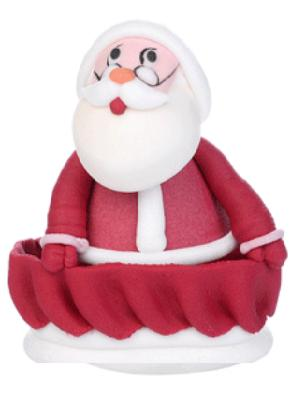 babbo Natale slitta h.8 x 6 cm