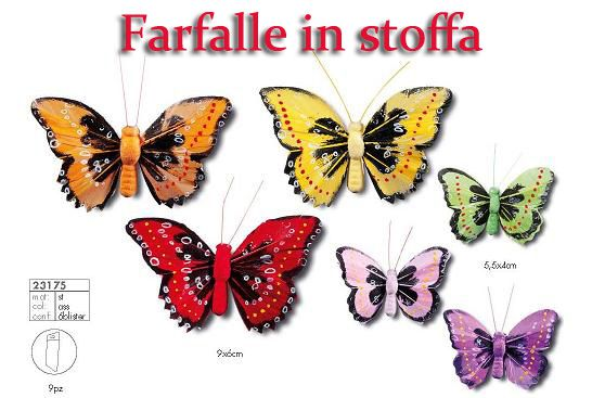Farfalle in stoffa multicolor
