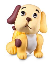 soggetto gelatina e zucchero cane  4x4,5cm