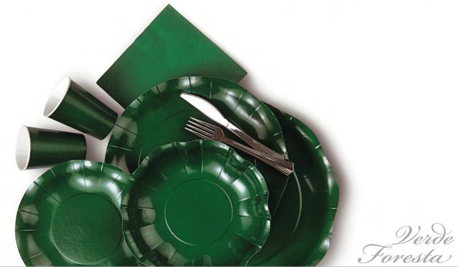 piatti in cartoncino verde