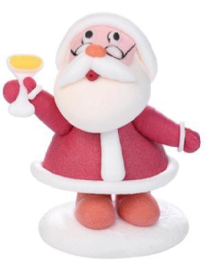 babbo Natale calice h.8 x 6 cm