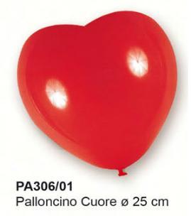 palloncini a forma di cuore rossi