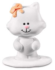 gattino bianco 3,5x4,5x2,8cm